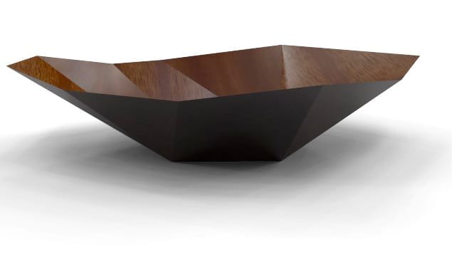 Centre de Table design Blue Leaves réalisation Rhino rendu flamingonxt