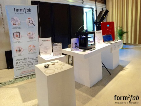 Stand Form2Fab, formation à rhino 3d et solutions 3d